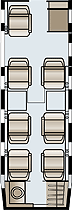 Flight Options Hawker 400XP Floor Plan